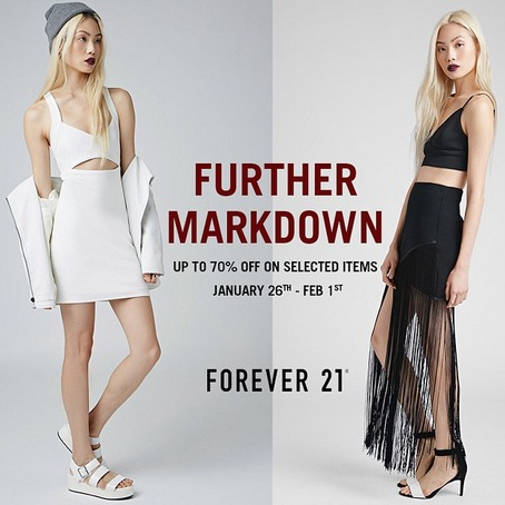 Forever21 Further Markdown January 2015