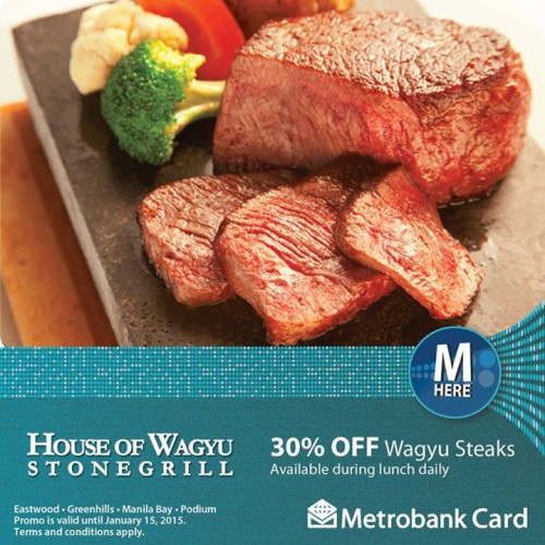 House of Wagyu Metrobank Card 30% OFF