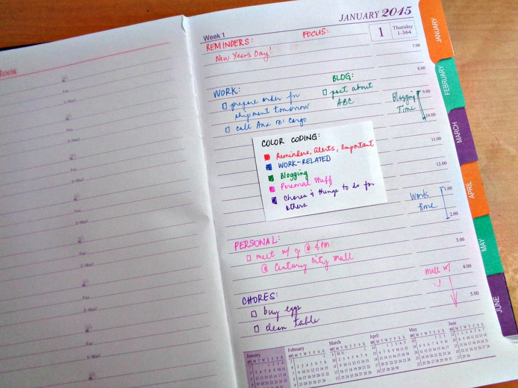 How I Set Up My Planner - Daily Planner Inside Page with Sample Schedule