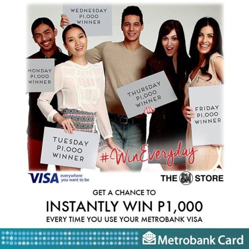 Metrobank Visa Win P1000 SM Store