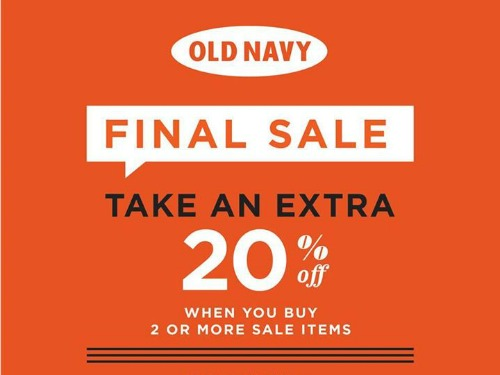 There are 2 Old Navy Outlet promo codes for you to consider including 2 sales. Most popular now: Sign Up for Exclusive Email Discounts and Updates. Latest .