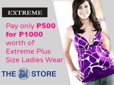 P500 for P1000 Worth of Extreme Plus Size at The SM Store