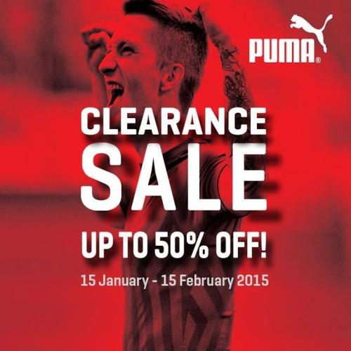 Puma Month-Long Clearance Sale Jan. 15-Feb. 15, 2015