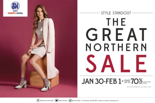 SM City North Edsa Great Northern 3 Day Sale Jan 30 Feb 1 2015