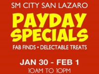 SM City San Lazaro Payday Specials 3 Day Sale Jan 30 Feb 1 2015