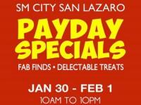 SM City San Lazaro Payday Specials 3 Day Sale Jan 30 Feb 1 2015