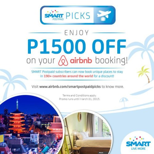 Smart Postpaid P1500 OFF AirBnb with Smart Postpaid
