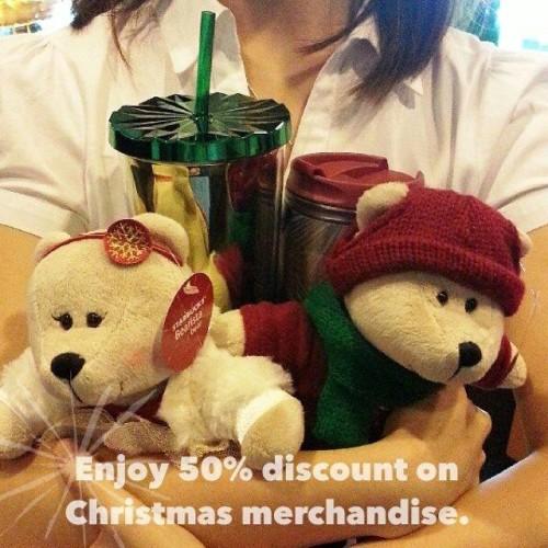Starbucks 50 OFF Half Price Christmas Items