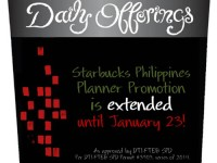 Starbucks Philippines Planner Promotion Extended to January 23