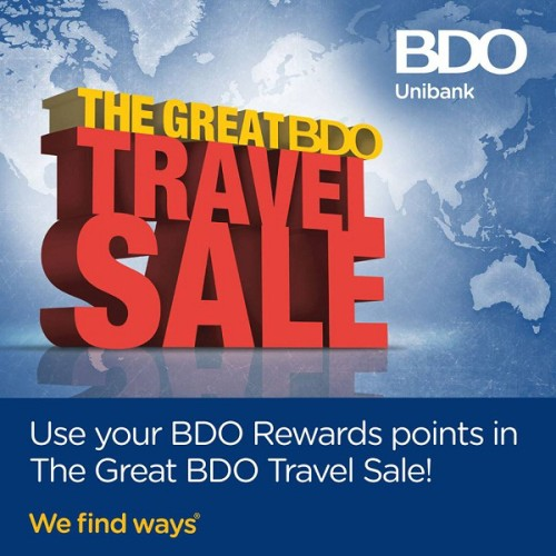 The Great BDO Travel Sale Jan 30 - Feb 1 2015
