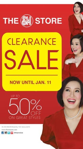 The SM Store Clearance Sale Jan 2015