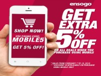 Ensogo Mobile 5% OFF February Promo