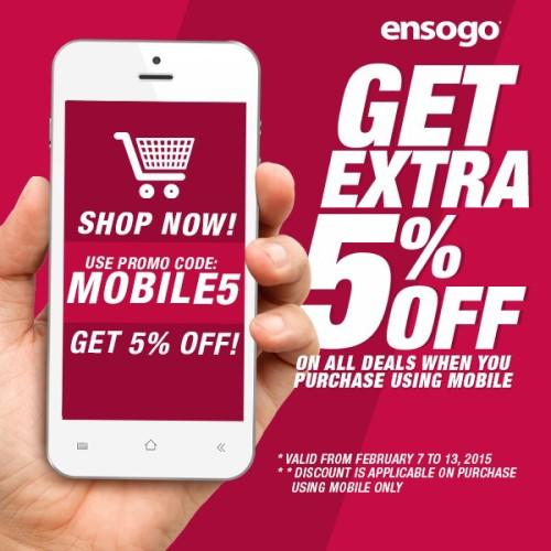 Ensogo Mobile 5% OFF February Promo