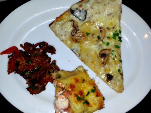Hyatt City of Dreams Buffet Review Truffle Parmesan Pizza Meatlovers Pie Salmon Lasagna