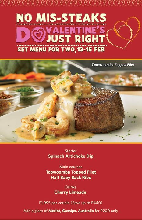 Outback Valentine Promo Steak For Two
