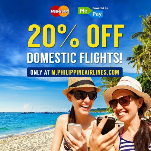 Philippine Airlines PAL 20 OFF domestic flights