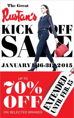 Rustan's Kick-Off Sale Extended to February 15