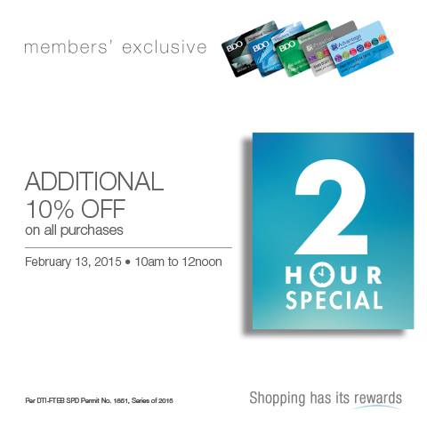 SM 3 Day Sale 2 Hour Special