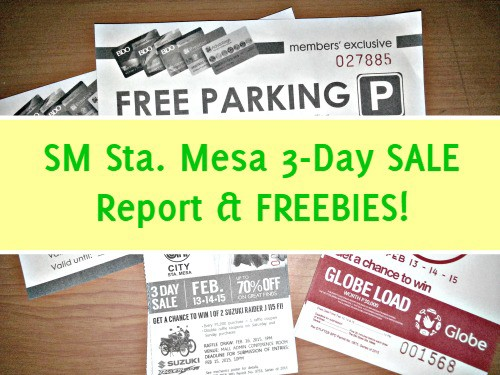 SM 3 Day Sale Report and Freebies