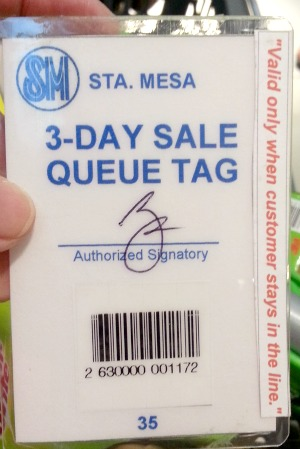 SM 3 Day Sale Report and Freebies Queue Tag