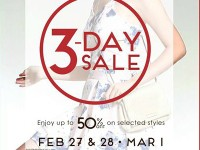 3-Day Sale at SM Store Makati, Fairview, Taytay, Marikina, Bf Paranaque, Pampanga, and Bacolod Feb 27 - March 1