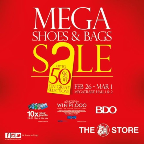 SM Shoes and Bags Sale Megatrade Hall Megamall