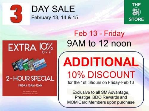 SM Sta Mesa 3 Day Sale 3 Hour Special
