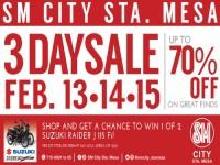 SM Sta Mesa 3 Day Sale February 13