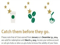 Starbucks Use Up Your Stars