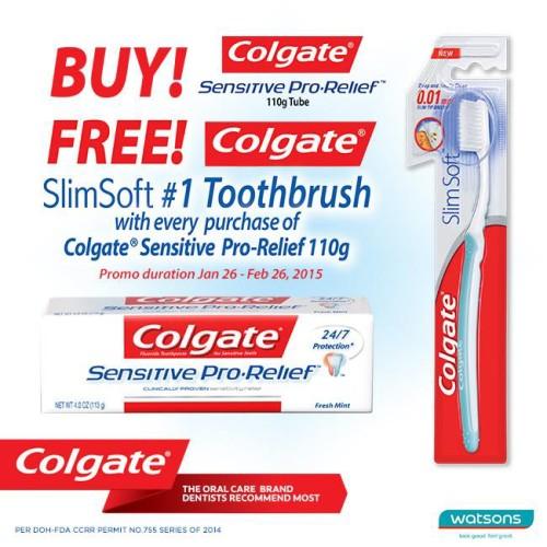 Watsons Colgate Promo Free Slim Toothbrush