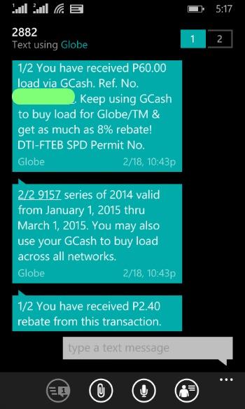 Why I Use Globe GCash Screenshot