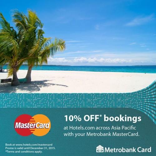 10% OFF Hotels.com Metrobank Mastercard Promo