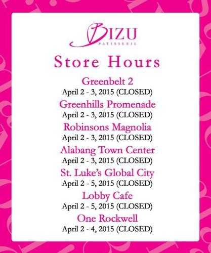 Bizu Holy Week Store Hours