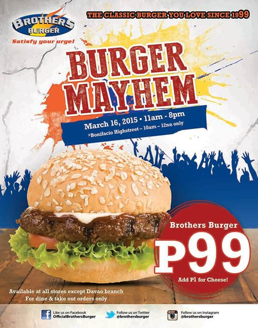 Brothers Burger Mayhem P99 March 16