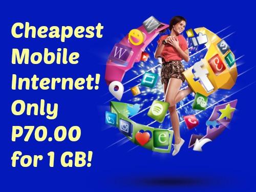 Cheapest Mobile Internet Globe Gosakto P70 1GB