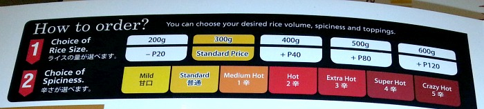 Curry House Coco Ichibanya Review How to Order Rice
