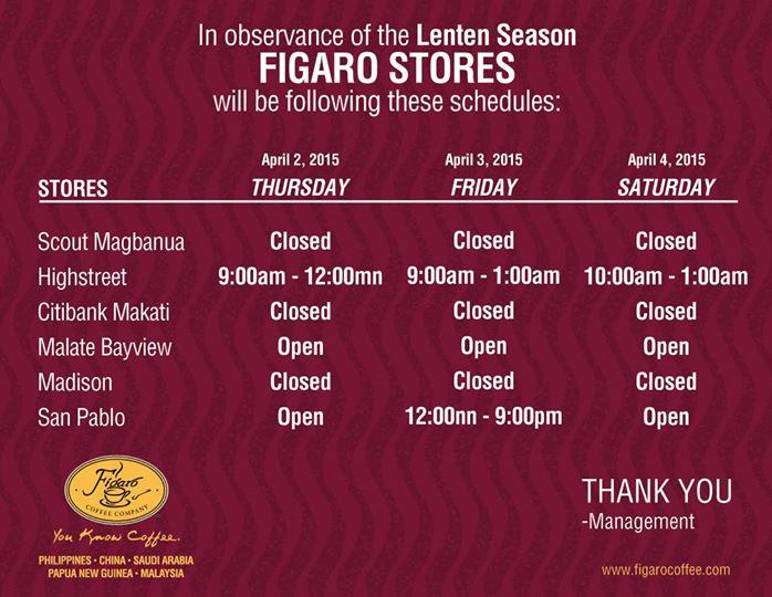 Figaro Holy Week Schedule 2