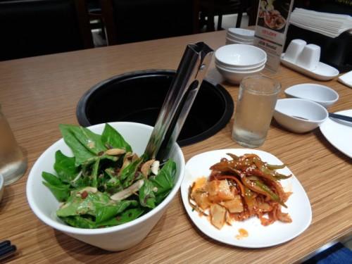 Gyukaku Japanese BBQ Horenso Salad Kimchi