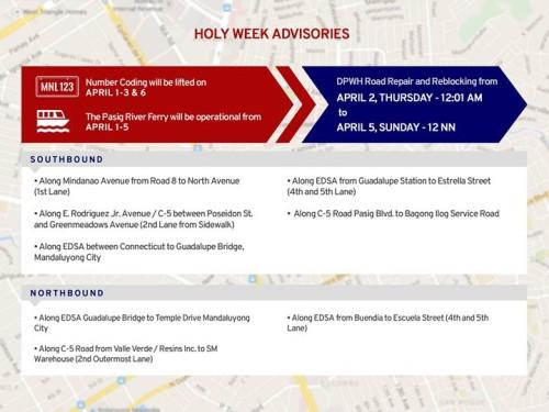 MMDA Holy Week Advisories