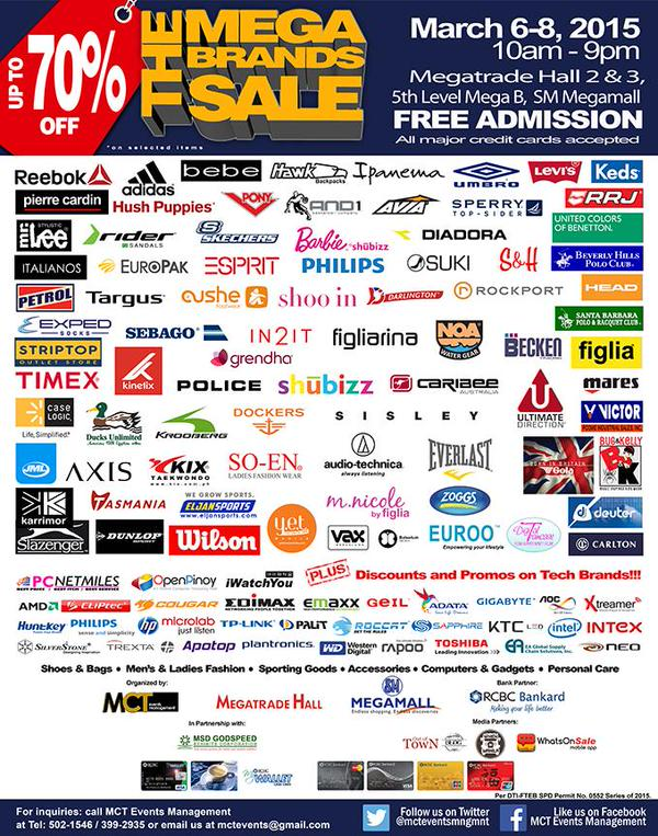 MegaBrands Sale March 6 2015 SM Megamall MegaTrade Brands
