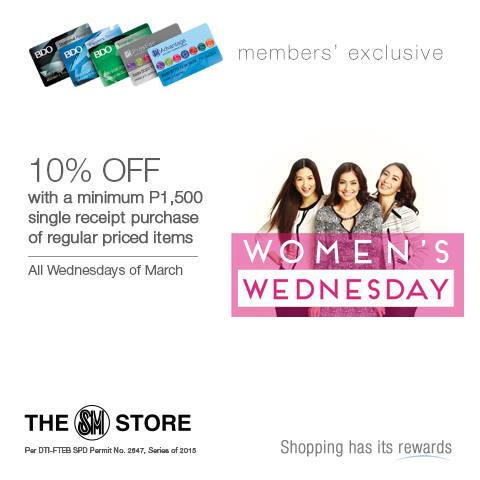 SM March Wednesday 10% OFF Promo