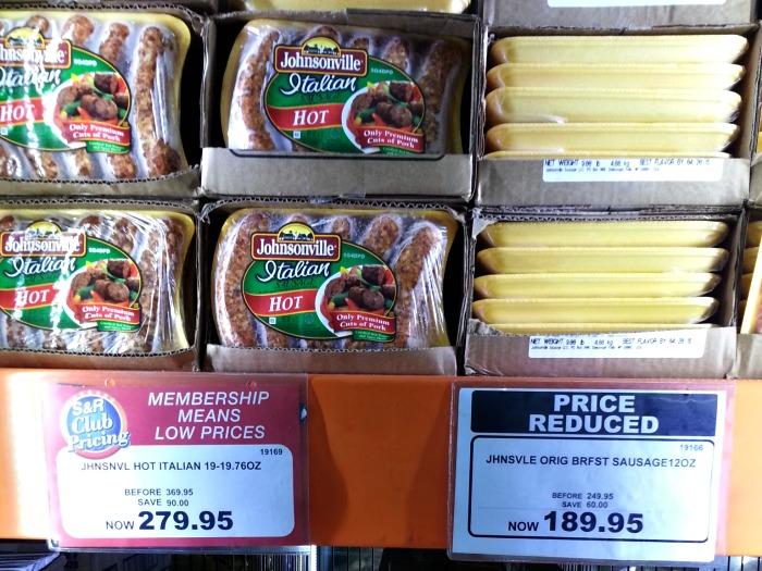 SnR Johnsonville Hot Italian Sausages