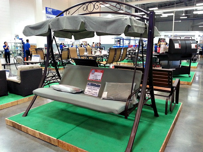 SnR Outdoor Furniture Olefin Steel Swing Canopy