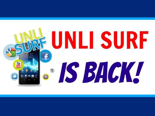 Smart Communications Unlisurf 50, 299, 999 is Back! Unli Surf