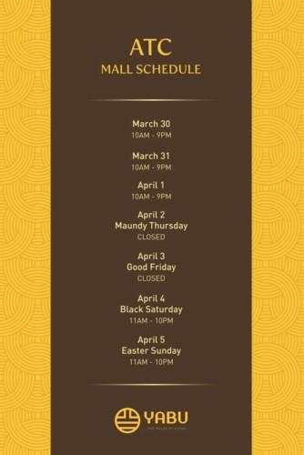 Yabu Holy Week Schedule ATC