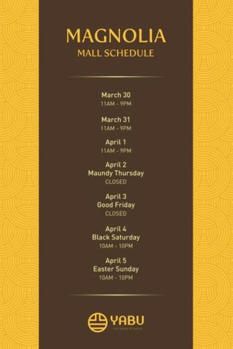 Yabu Holy Week Schedule Magnolia