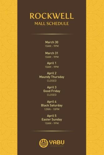 Yabu Holy Week Schedule Rockwell