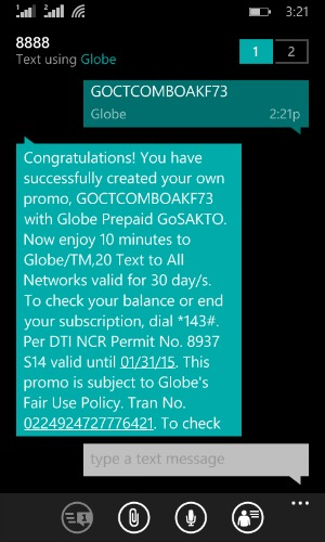 Gosakto Tips Tricks GOCTCOMBOAKF73 10 minutes Globe Calls 30 days