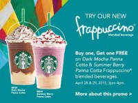Starbucks Buy 1 Get 1 Starbucks Summer Berry Dark Mocha Frappuccino Featured Image
