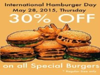 Burger Avenue 30 OFF All Special Burgers May 28 International Hamburger Day